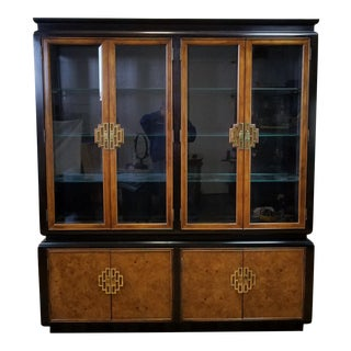 Raymond K. Sobota Chin Hua Century Furniture Breakfront China Cabinet