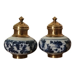 Chinoiserie Blue & White Salt & Pepper Shakers