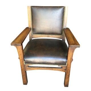 Arts & Crafts Oak Lounge Chair