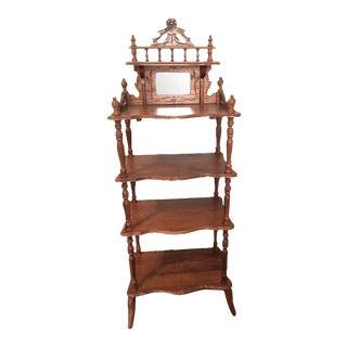 Antique Oak Vanity Shelving