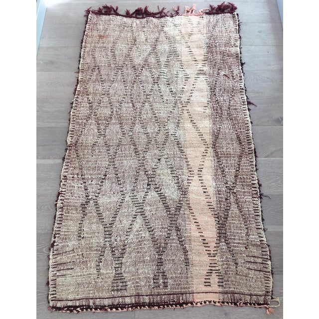 """Image of Vintage Abstract Moroccan Rug - 3'3"""" x 5'7"""""""