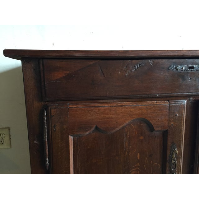 Antique French Country Walnut Cabinet - Image 9 of 11