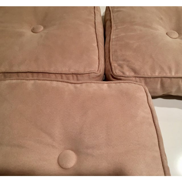 Mitchell Gold + Bob Williams Pale Yellow Suede Cushions - Image 7 of 10