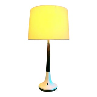 White Mid-Century Modern Table Lamp