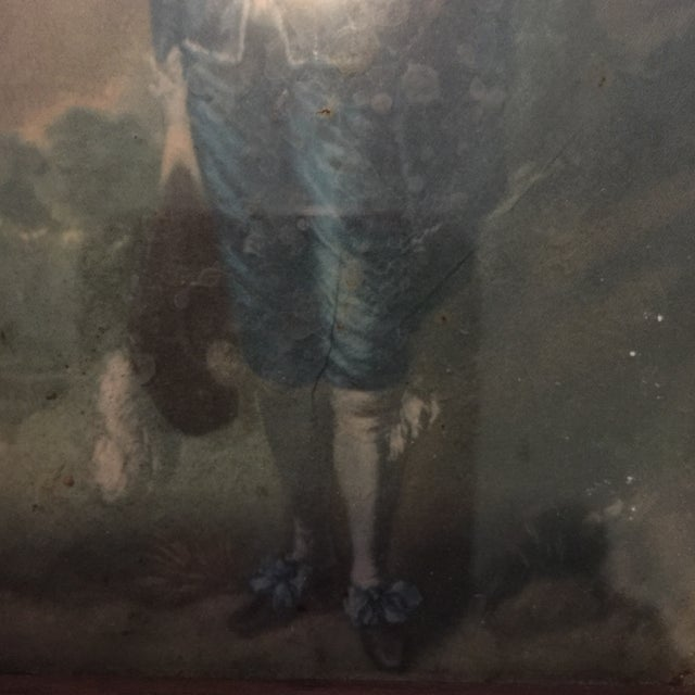 """Image of """"Boy in Blue"""" Antique Painting"""