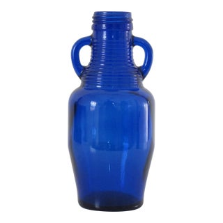 Cobalt Blue Bottle with Handles