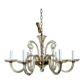 Murano Glass Pale Amber Chandelier