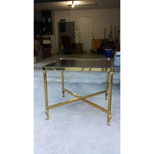 Drexel Heritage Brass & Glass End Table