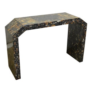 Enrique Garcel Tessellated Natural Horn Console Hall Table