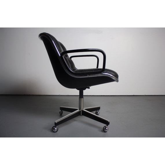 Image of Knoll Black Vinyl Office Chair