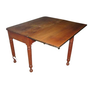 Farm Style Cherry Drop Leaf Table