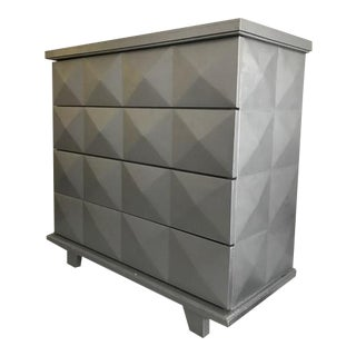 Vintage Contemporary Diamond Pattern Dresser