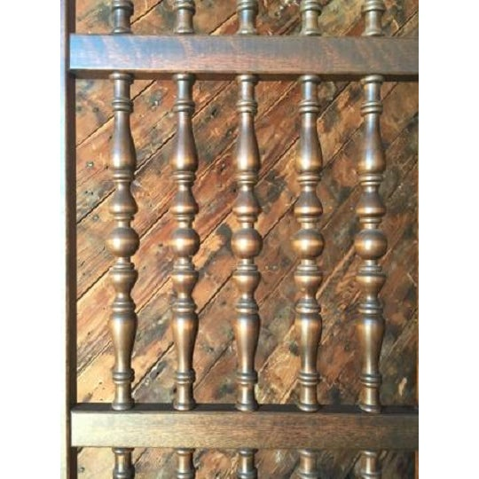 Walnut Mid Century Room Divider w/Carved Spindles - Image 8 of 8