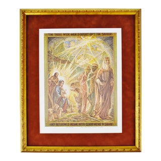 "Vintage Robert F. McGovern Signed Limited Edition Print ""Epiphany's Ongoing Vision"" Three Wise Men"