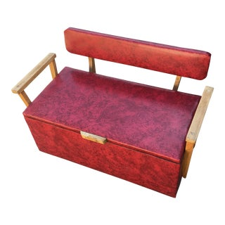 Vintage Red Storage Bench