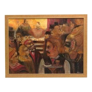 Masquerade Ball Scene Oil Painting