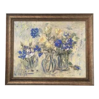 Vintage Flowers in Vase Painting