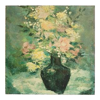 Vintage Floral Print on Hardboard