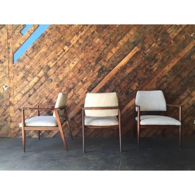 Mid-Century Danish Walnut Sculpted Arm Chair - Image 5 of 9