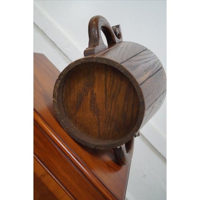 Oak Waste Basket ~ Romweber viking oak horsehead waste basket chairish