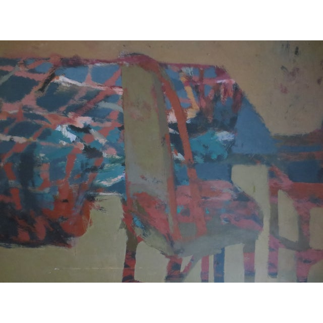 1959 Abstract Painting - Room With Chairs - Image 3 of 11