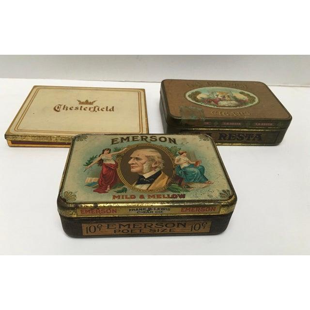 Vintage Tobacco Cigar & Cigarette Tins - Set of 3 - Image 4 of 11