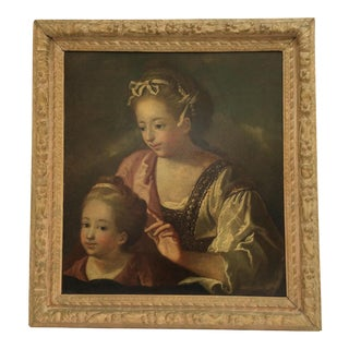 18th C. Painting of Mother and Child