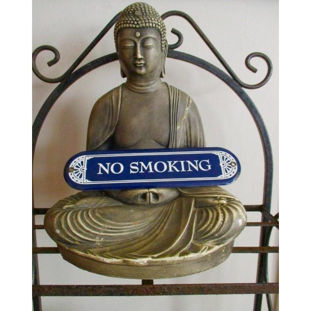"""Image of Enamel Porcelain """"No Smoking"""" Sign"""