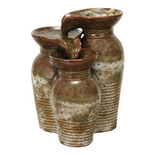 Tuscany Triple Vase Water Table Fountain
