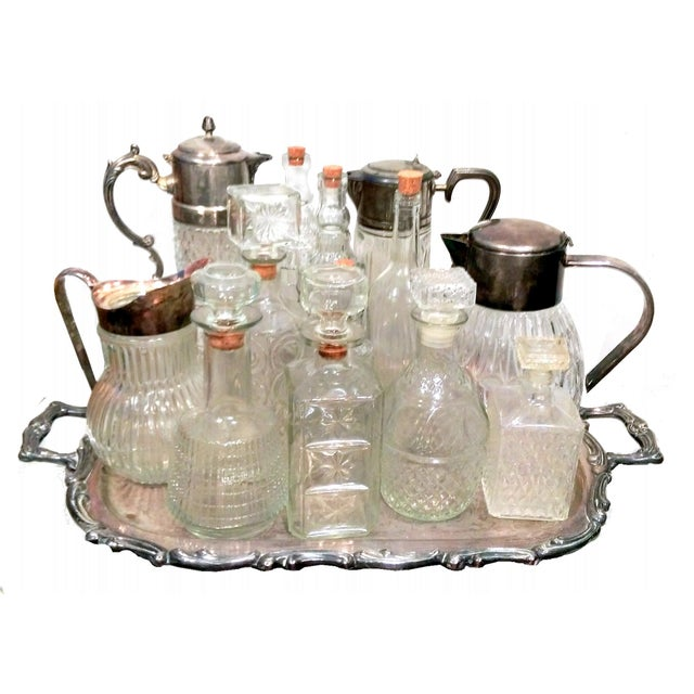 Italian Crystal & Glass Beverage Set - 14 Piece - Image 7 of 7