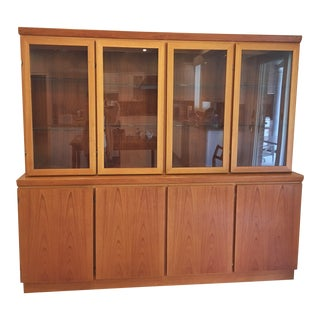 Danish Teak Wood Hutch