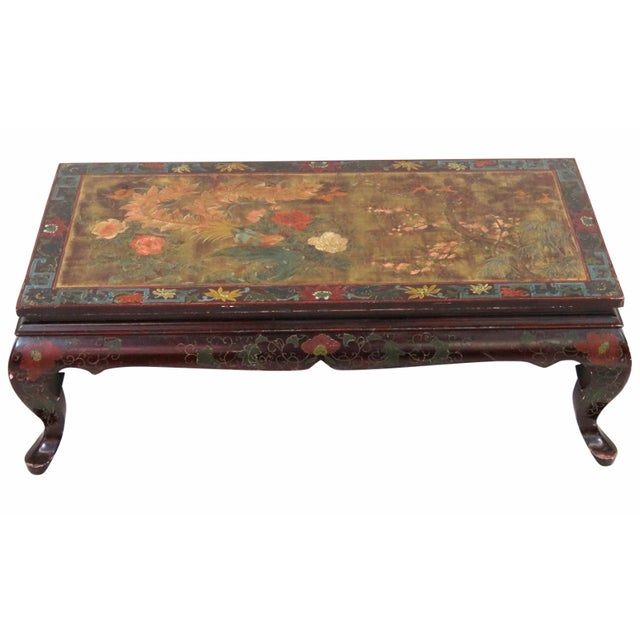 Chinese Paint Decorated Coffee Table - Image 1 of 3