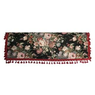 Vintage 80's Tapestry With Tassel Fringe