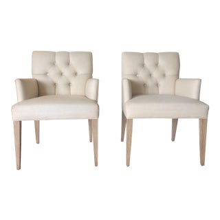 Natural White Accent Chairs - A Pair