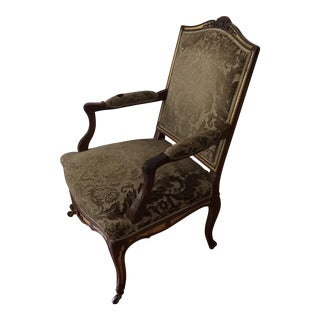 Solid Wood Damask French Bergere Chair