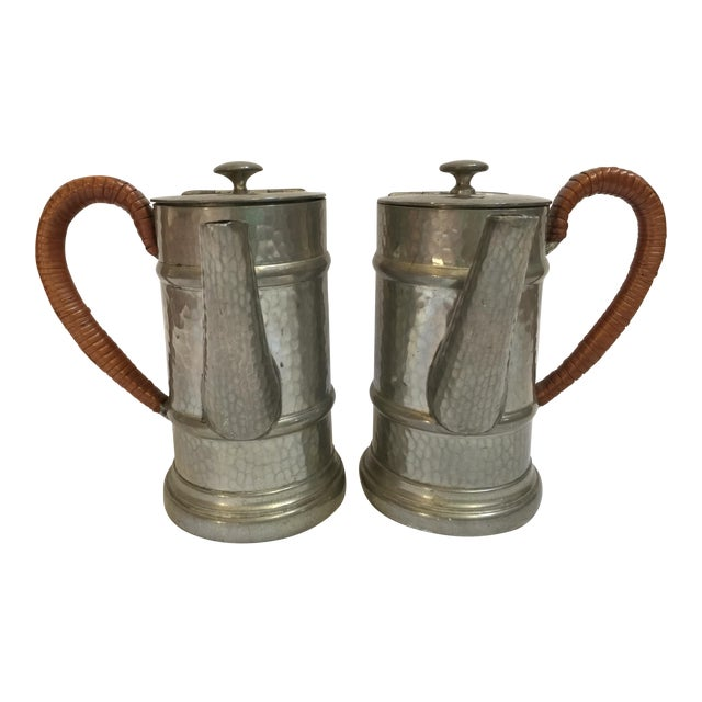 English Pewter Coffee Pots - A Pair - Image 1 of 9