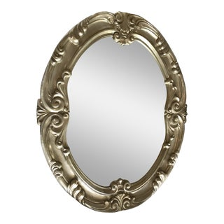 Italian Style Solid Wood Silver Frame Mirror