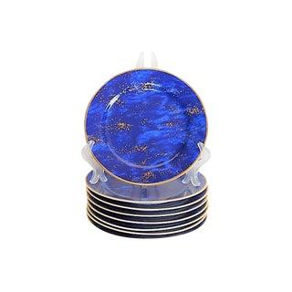 Lapis Lazuli Designer Plates for Neiman Marcus - Set of 8