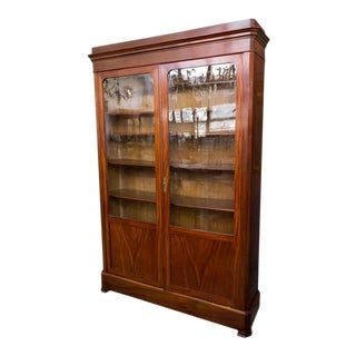 Elegant 19th Century Mahogany Bookcase