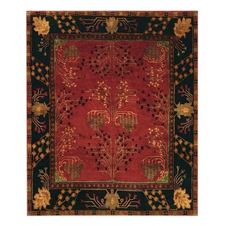 Hand-Knotted Room-Size Tibetan Wool Rug - 8′6″ X 11'6'