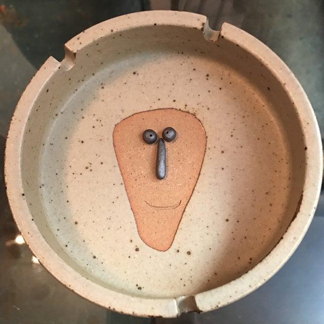 Japanese Stoneware Face Ashtrays - A Pair - Image 7 of 9