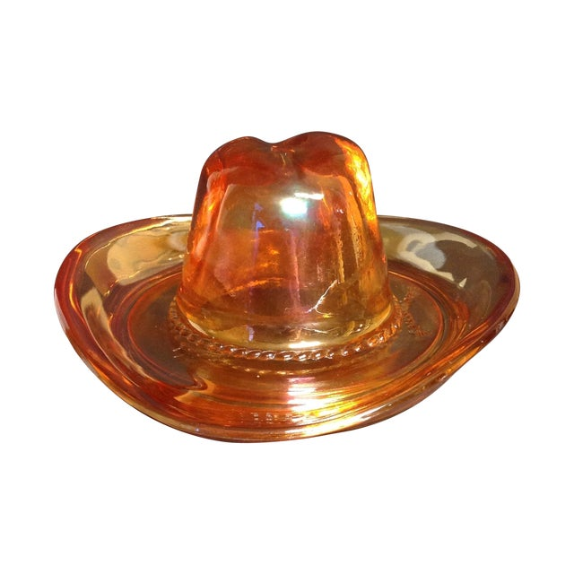 Carnival Glass Ten Gallon Hat Ash Tray - Image 1 of 4