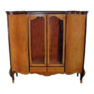 Antique Louis XV Bronze Mounted & Banded Armoire