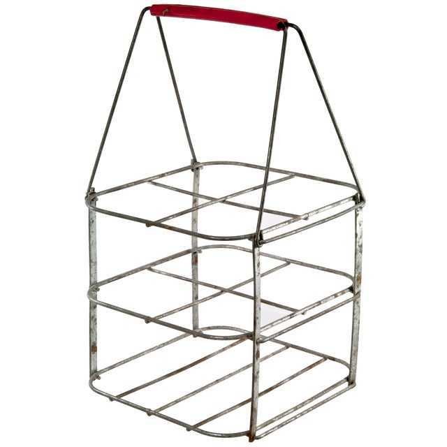 French Folding Wire Bottle Carrier - Image 1 of 5