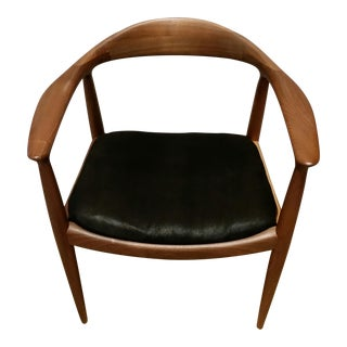 Hans Wegner Mid Century Modern Teak Accent Chair. Vintage   Used Black Accent Chairs   Chairish