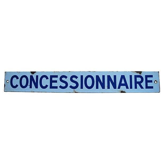 Image of French Enamel Dealer Sign