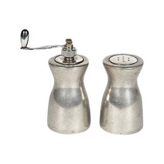 1950s Pewter Salt & Pepper Shakers - A Pair