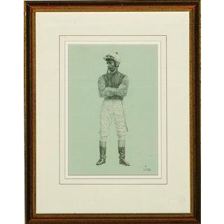 """Study of a Jockey"" Portrait Drawing"