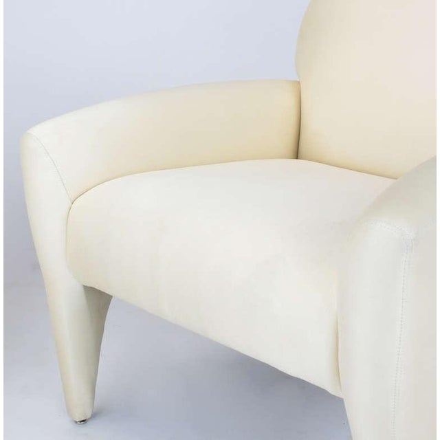 Pair Vladimir Kagan Lounge Chairs In Ivory Silk - Image 5 of 9