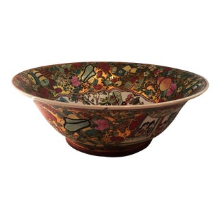 Vintage Hand Painted Centerpiece Bowl